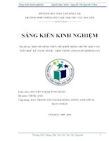 SKKN: Một số hình thức để khởi động  trước khi vào tiết học kỹ năng nghe  môn tiếng Anh 10
