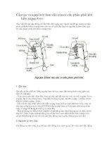Cấu tạo và nguyên lý làm việc của cơ cấu phân phối khí kiểu xupap treo
