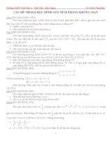 Tổng hợp các đề thi đại học về hình học giải tích trong không gian