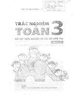 Bài tập trắc nghiệm và đề kiểm tra toán lớp 3 học kỳ 1