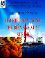 Báo cáo thực tập Tìm hiểu quy trình chế biến sản xuất Surimi (thuyết trình)
