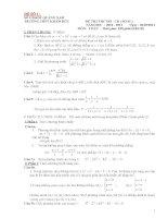 Tổng hợp 20 đề thi thử đại học môn toán (có đáp án chi tiết)