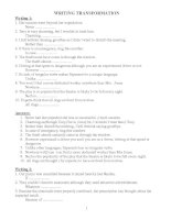 Tuyển tập những bài viết lại câu trong tiếng anh (hay và hữu ích)