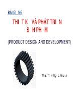 bài giảng Thiết kê và phát triển sản phẩm  (bản cập nhật 2014)