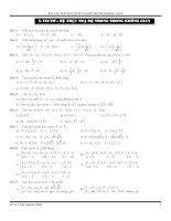 Hệ thống bài tập về phương pháp tọa độ trong không gian  tài liệu luyện thi đại học