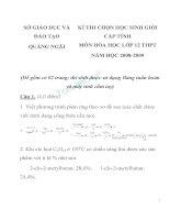 Tuyển tập đề luyện thi HSG cấp tỉnh môn hóa học lớp 12