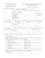 Tuyển tập đề thi chính thức Anh văn lớp 12 HSG cấp tỉnh 10_11