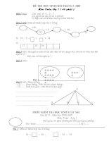 Bộ đề thi học sinh giỏi toán lớp 1