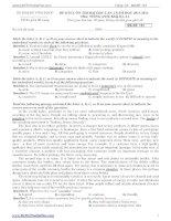 Tuyển tập các đề thi thử Đại học môn Tiếng Anh 2014 (có đáp án)