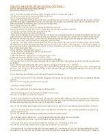 câu hỏi và trả lời đồ án bê tông cốt thép 1