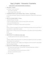 Những vấn đề cơ bản của hợp đồng tiếng anh 2
