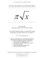 Phương trình, bất phương trình đại số bậc cao, phân thức hữu tỉ cực hay  Tài liệu bồi dưỡng toán học phổ thông