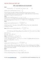Khảo sát hàm số Chương 1 Đại số 12