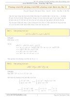 Hệ thống bài tập về phương trình, hệ phương trình, bất phương trình có lời giải chi tiết  toán 10