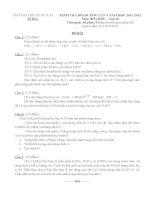 Đề kiểm tra bồi dưỡng HSG lớp 10 có kèm đáp án