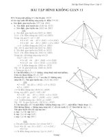 Bài tập hình học không gian lớp 11 có lời giải