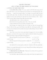VẬT lý đại CƯƠNG tập 2 điện học, CHƯƠNG 1 TRƯỜNG TĨNH điện