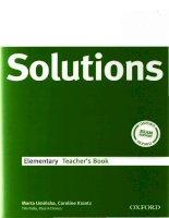 Solutions elementary teacher''s book