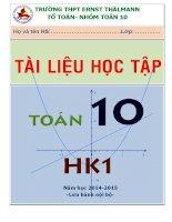 tài liệu học tập môn toán lớp 10 học kỳ 1 - thpt ernst thalmann