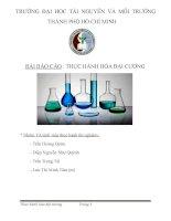 Báo cáo thí nghiệm hóa đại cương