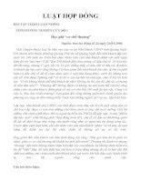 tình huống nghiên cứu luật hợp đồng