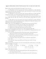 BÀI 45  DÒNG NĂNG LƯỢNG TRONG HỆ SINH THÁI VÀ HIỆU SUẤT SINH THÁI + đáp án