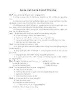 BÀI 24. CÁC BẰNG CHỨNG TIẾN HOÁ + ĐÁP ÁN