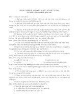 BÀI 40  QUẦN XÃ SINH VẬT VÀ MỘT SỐ ĐẶC TRƯNG CƠ BẢN CỦA QUẦN XÃ SINH VẬT + đáp án