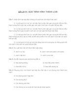 BÀI 29,30. QUÁ TRÌNH HÌNH THÀNH LOÀI + ĐÁP ÁN