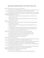 BÀI 35  MÔI TRƯỜNG SỐNG VÀ CÁC NHÂN tố SINH THÁI + đáp án