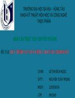 Báo cáo thực tập Quy trình sản xuất bột CALCIUM CARBONATE (thuyết trình)