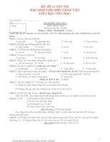 Bộ đề thi học sinh giỏi toán lớp 5