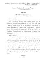 ĐỀ THI+ĐÁP án môn KIẾN THỨC CHUNG năm 2014