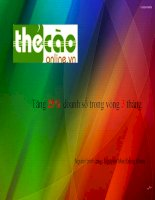 Kế hoạch marketing cho website thecaoonline