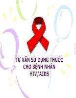 BÁO CÁO TƯ VẤN SỬ DỤNG THUỐC CHO BỆNH NHÂN HIV/AIDS