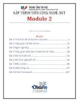 Giáo trình lập trình viên công nghệ  net (module 2)   trung tâm tin học đh KHTN