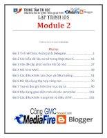 Giáo trình lập trình iSO (module 2)   trung tâm tin học đh KHTN