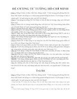 NGÂN HÀNG ĐỀ THI TƯ TƯỞNG HỒ CHÍ MINH (Có đáp án)