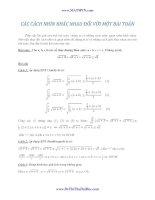 19 cách giải khác nhau cho 1 bài toán về bất đẳng thức