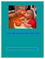 Cách cho trẻ ăn dặm kiểu nhật để phát triển đầy đủ