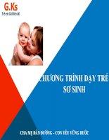 Chương trình hướng dẫn dạy trẻ sơ sinh theo phương pháp glenn doman