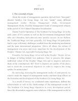 nghệ thuật sân khấu cải lương nam bộ qua tác động của các phương thức quản lý bản tóm tắt tiếng an