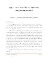 Đề tài lập kế hoạch marketing cho ngân hàng công thương thái bình