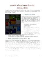 10 BƯỚC XÂY DỰNG CHIẾN LƯỢC  SOCIAL MEDIA
