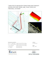 analysis of boundary conditions and concept design for port dong lam, thua thien-hue province, vietnam