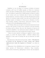 nghiên cứu chế tạo bộ xét nghiệm elisa phát hiện nọc rắn độc và ứng dụng lâm sàng chuẩn đoán rắn độc cắn ở việt nam bản tóm tắt tiếng anh