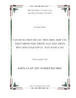 VẬN DỤNG một số cấu TRÚC học hợp tác THEO NHÓM NHỎ TRONG dạy học PHẦN hóa KIM LOẠI lớp 12   BAN NÂNG CAO
