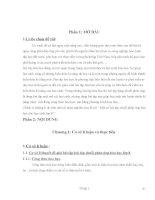 Đề tài: Phương pháp giải một số bài tập chuỗi phản ứng hóa học cho học sinh lớp 8