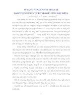 SỬ DỤNG POWER POINT THIẾT KẾ BÀI CƠ QUAN PHÂN TÍCH THỊ GIÁC  (SINH HỌC LỚP 8)