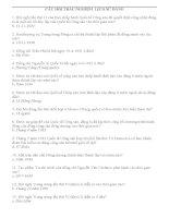 200 Câu hỏi trắc nghiệm môn lịch sử đảng (có đáp án)